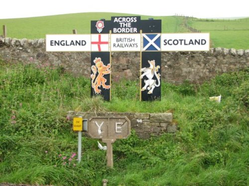 Because apparently there is no border between Scotland and England - only SEPARATION would do that.