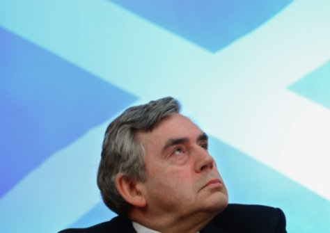 You just know he's the only man in Scotland who'd frown if he saw a saltire in the clouds.