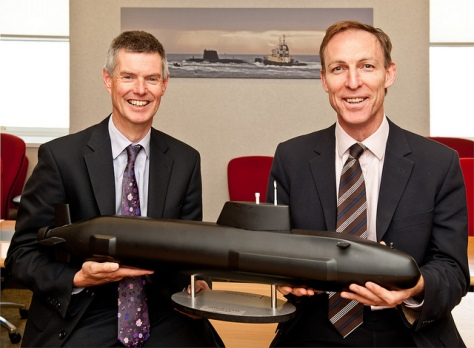 Behold the Socialist Jim Murphy, thrilled to bits at the unveiling of the Trident replacement. (Actual size)