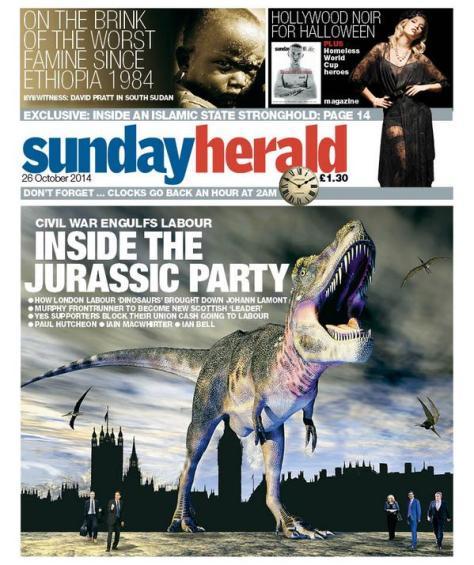 Sunday Herald_Labour Dinosaurs