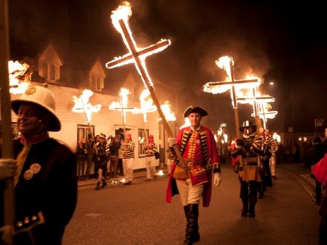 Lewes Burning Crosses