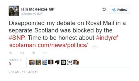 Yes, he really did try to blame the SNP for New Labour cancelling THEIR OWN DEBATE.