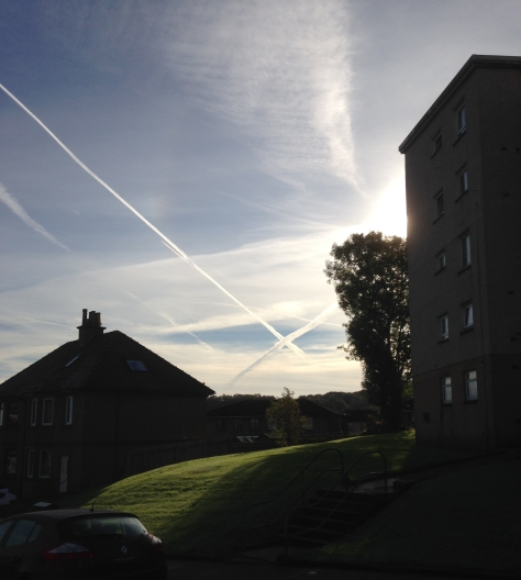 Inverclyde_Saltire in the Sky