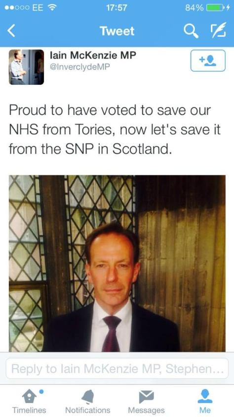 And here I thought the NHS was safe with a No vote...