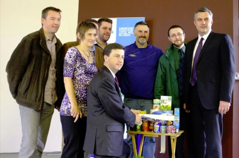 Also remember this picture of him opening a food bank in Renfrewshire.