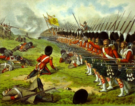 The 93rd Highlanders advance at the Battle of Alma