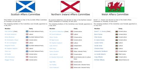 Scottish Irish Welsh Affairs
