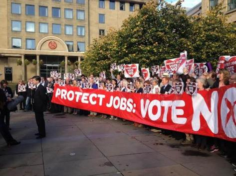 "Blair McDougall would say ""we did protect jobs: it would be EVEN WORSE in a SEPARATE SCOTLAND."""