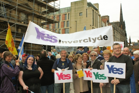 Stuart_Yes Inverclyde March
