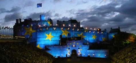The annual Edinburgh Military Tattoo celebrates the European Armed Forces.