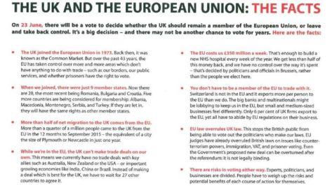 Leave leaflet UK