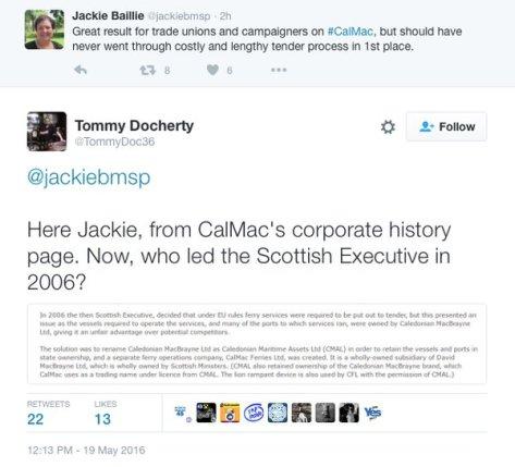 Speaking of Calmac...