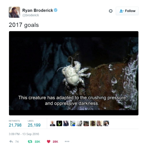Be like the Hairy-Chested Yeti Crab of the Hydrothermal Vents