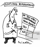 Scotland Referendum - Do you want independence from money?